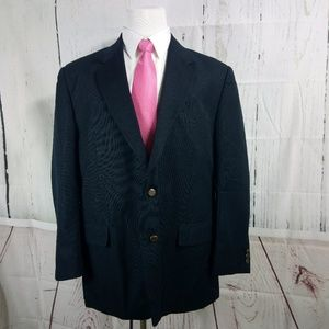 Haband 46R 2 Button Navy Blue Suit Blazer Sports C
